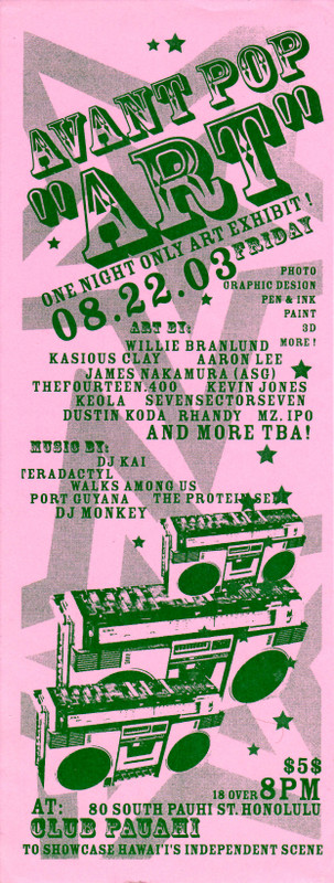 Avant Pop Art Flyer 2003